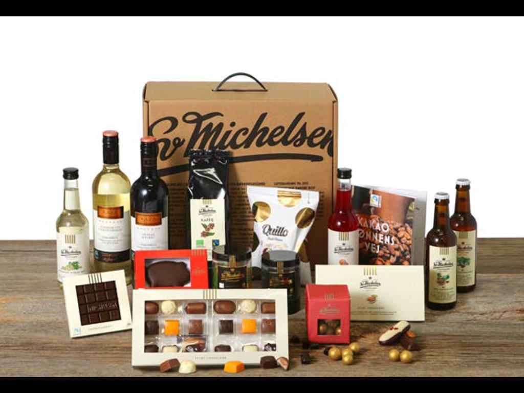 Ekstra stor gavepakke med vin