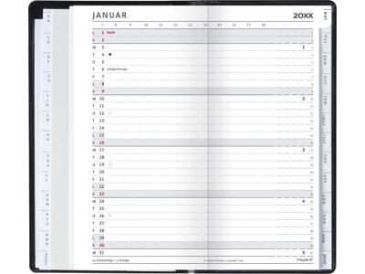 Index Planner, månedskalender, REFILL + tlf.reg. FSC Mix