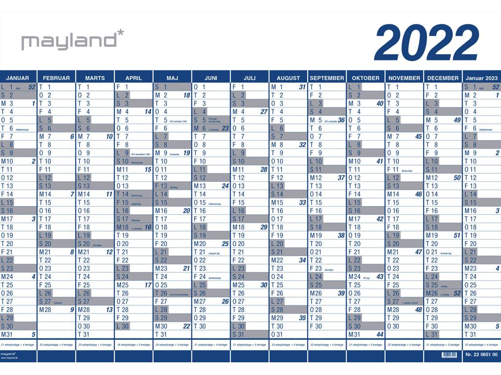 Kæmpekalender 2022, 1x13 mdr., PP-plast, 10 stk.