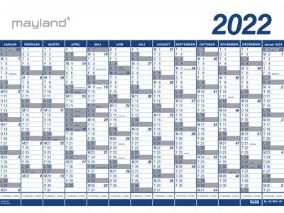 Kæmpekalender 2022, 1x13 mdr., PP-plast