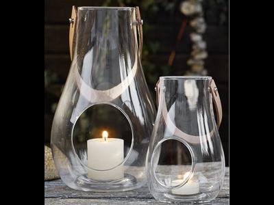 Holmegaard Design With Light lanterne 16 cm og 25 cm, klar