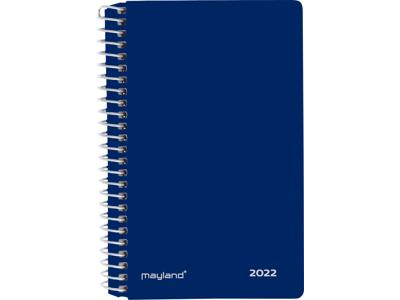 Minispiralkalender, 2 dage, hård PP-plast, blå, FSC Mix