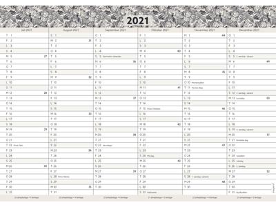 Kartonkalender A4, studie, FSC Mix