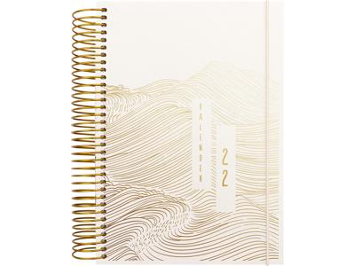Spiralkalender, 1-dag, tekstilpræg, FSC Mix