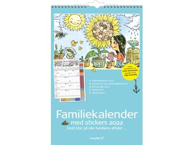 Familiekalender med stickers, illu. af Otto Dickmeiss, 5 kol