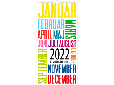 Familiekalender, TrendArt, FSC Mix