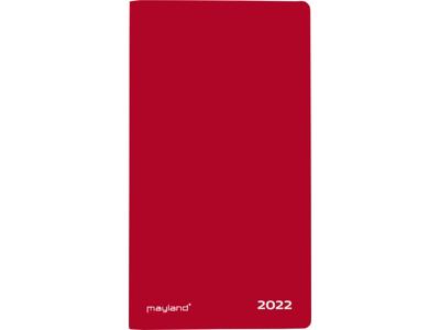 Index Planner, månedskalender m/tlf.reg., mappe i vinyl, rød
