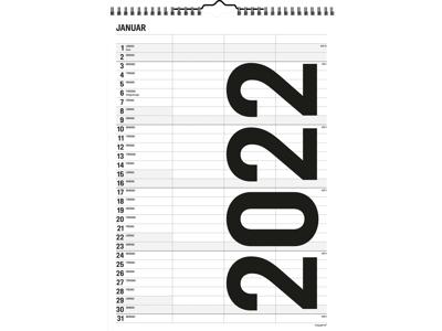 Familiekalender Black & White