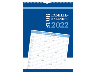 Stor familiekalender, 7 kolonner, FSC Mix