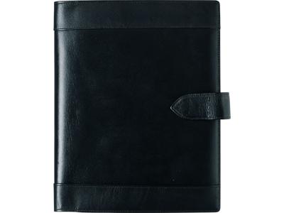 A5 ugekalender, højformat, mappe i skind, sort