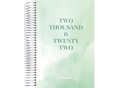 Timekalender 2022, 1-dag, tekstilpræg, grøn, trend, FSC Mix