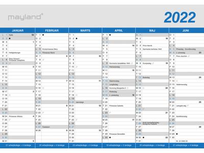 A5 kontorkalender, klassisk, FSC Mix