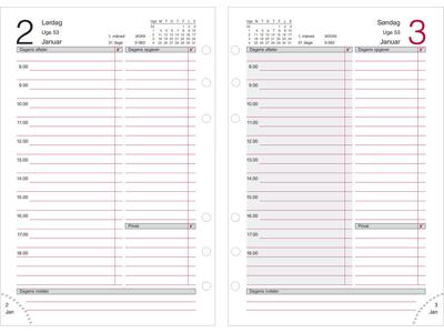 System MM dagkalender, REFILL, FSC Mix