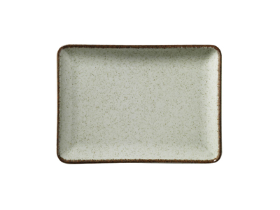 Tallerken rekt 18x13 cm Pearl Grøn