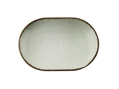 Tallerken rekt Ø 36 cm Pearl grøn