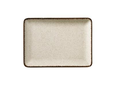Tallerken rekt 27x20 cm Pearl Cream