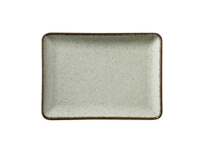 Tallerken rekt 27x20 cm Pearl Grøn