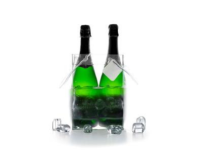 Ispose til 2 flasker vin transparant