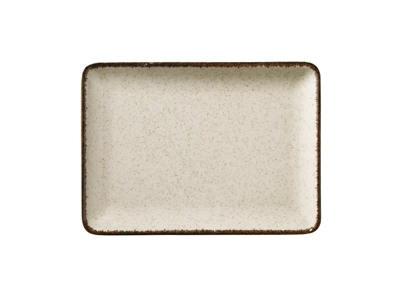 Tallerken rekt 18x13 cm Pearl Cream