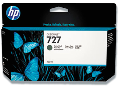 Blækpatron, 1 stk, Mat Black-mat sort, 130 ml, HP HP 727