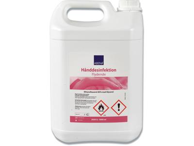 Hånddesinfektion, Flydende, 5000 ml, Dunk, Abena 85%