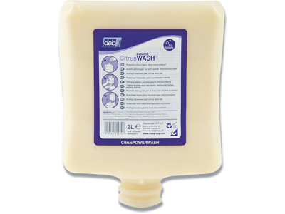Håndrens, beige, med parfume, 2000 ml, Deb Kresto Citrus