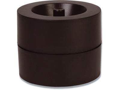 Clipsholder, Med magnet, Sort, Plast, Office Depot