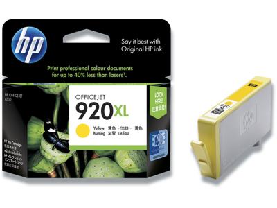 Blækpatron, 1 stk, 700 sider, Yellow-gul, HP HP 920XL