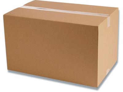 Papkasse, 284x185x165mm, Enkelt bølge, 9 liter, Modulkasse