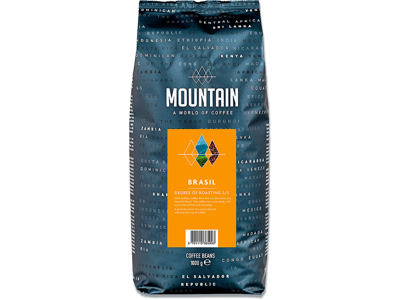 Kaffe, Hele bønner, Mellemristet, 1000 g, BKI Mountain Brasil