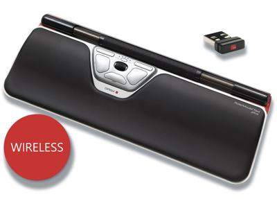 Ergonomisk mus, Rullestav, 8 knapper, Sort, RollerMouse Re:d Plus Wireless