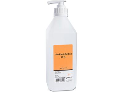 Hånddesinfektion, Flydende, 600 ml, Flaske med pumpe, Plum 85%