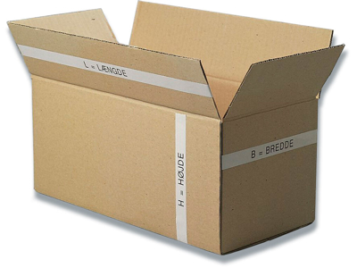 Papkasse, 780x590x725mm, Dobbelt bølge, 333 liter,