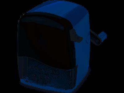 Blyantspidser bordmodel blå