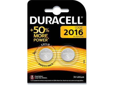 Batterier, 2 stk, Ikke genopladelig, 3 V, Duracell Electronics 2016