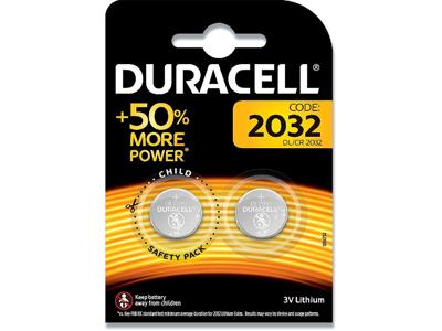 Batterier, 2 stk, Ikke genopladelig, 3 V, Duracell 2032
