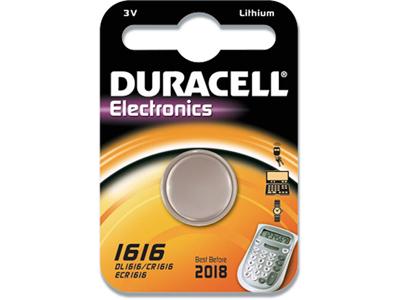Batteri, Ikke genopladelig, 3 V, Lithium, Duracell Electronics 1616