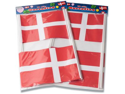 Hurra flag, papir på pind, 20x27cm, 10stk/pak