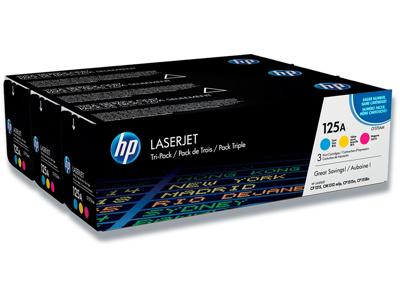 Tonere, 125A, 3 farver, Tri pack, HP CF373AM