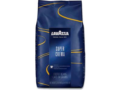 Kaffe, Hele bønner, Mellemristet, 1000 g, Lavazza Super Crema