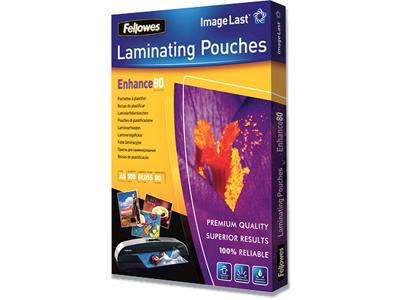 Lamineringslommer, A5, 80 mic, 100 stk, Fellowes Gloss