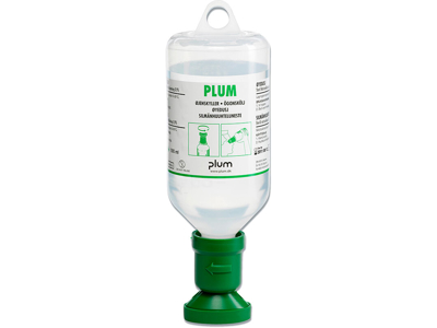 Øjenskyl, flaske med øjenkop, steril, 500 ml, Plum