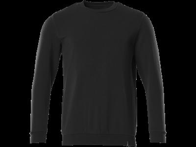 Crossover sweatshirt, bæredygtig, dyb sort L