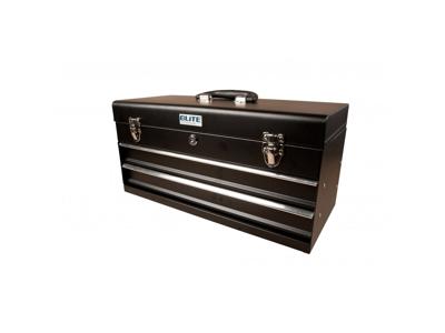 Værktøjskasse med 2 skuffer sort