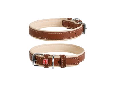 Læderhalsbånd soft brun