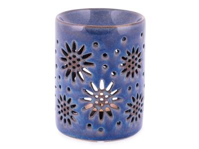 Duftlampe keramik blå blomst
