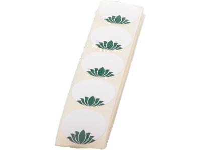 Etiketer lotus rund