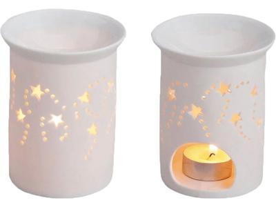 Duftlampe stjerne hvid