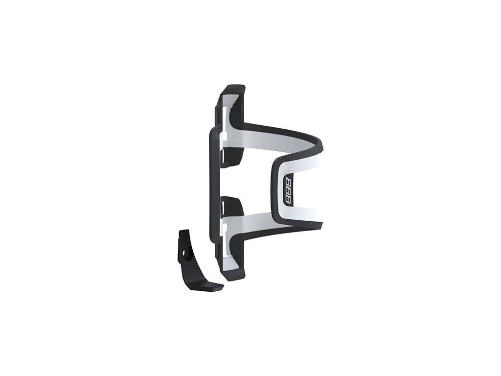BBB - Dualattack - Flaskeholder - Universal højre/venstre - Sort/hvid thumbnail