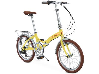 "Durban Rio UP - 20\"" Hopfällbar cykel med 7 Shimano växlar - Gul"